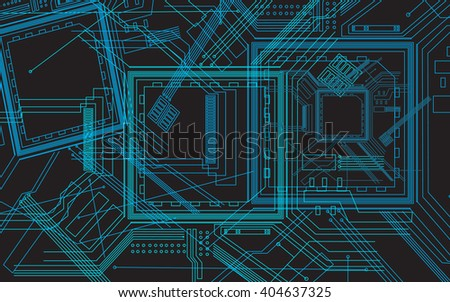Abstract background of digital technologies. computer motherboard. Circuit board. technology theme. Connection structure. Vector science background. science fiction background. ?omputer technology.