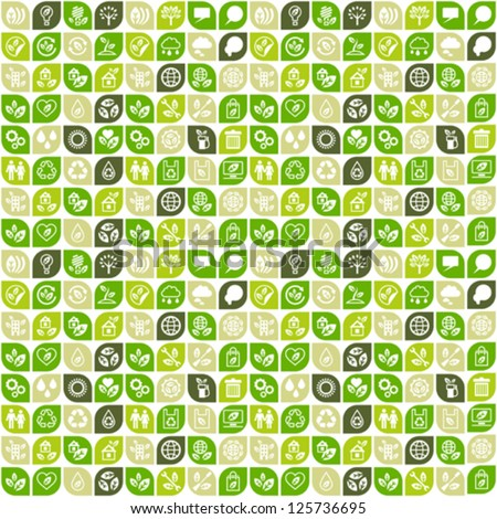 Abstract background of eco web icons. - stock vector