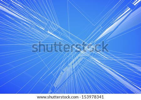Abstract background of matrix wireframe space - stock vector