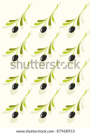 Abstract background of olive pattern - stock vector