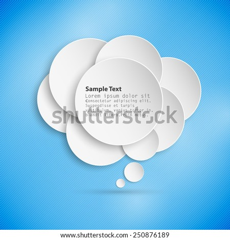 Abstract background of paper speech bubble, abstract template vector.