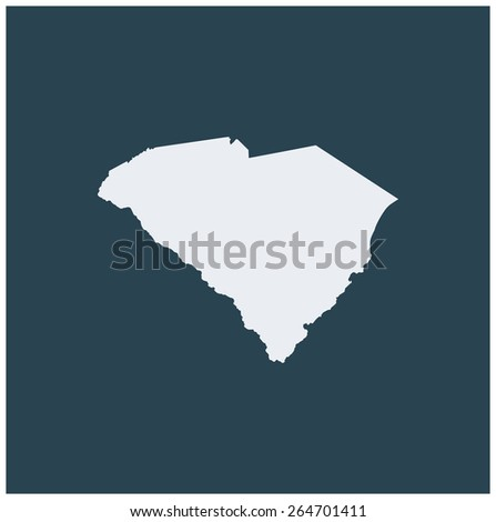 Abstract background of South Carolina Map - stock vector