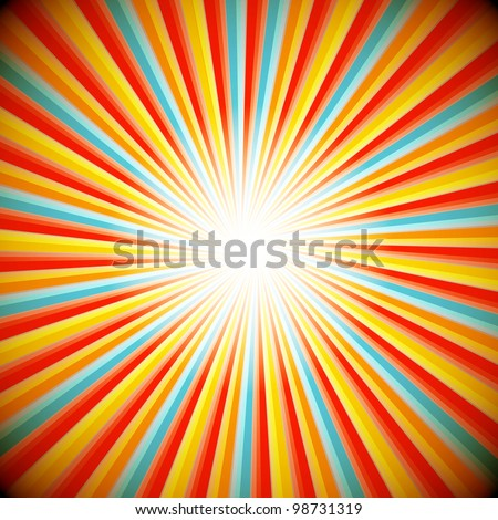 Abstract background of star burst - eps10 vector - stock vector