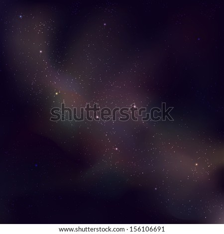 Abstract background of star field, vector illustration - stock vector