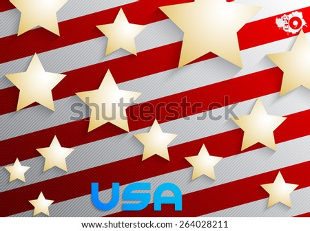 Abstract background of the American flag - stock vector