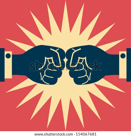 Abstract background on business fighting. Vector illustration.
