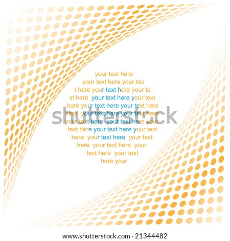 Abstract background. Orange set. Simply change. - stock vector