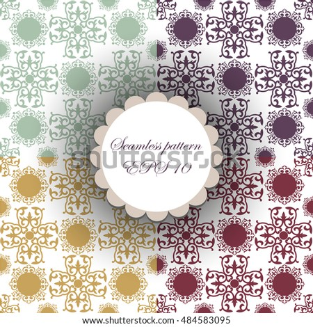 abstract background. ornamental. different colors siamless pattern