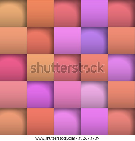 Abstract background paper squares. Vector Illustration - stock vector