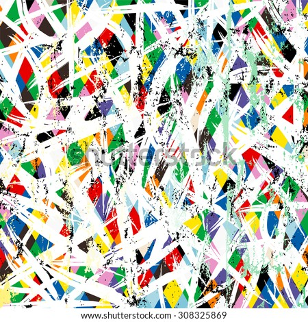 abstract background pattern, with paint strokes and splashes  - stock vector