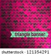 Abstract background pink black triangles for your business presentation - stock photo