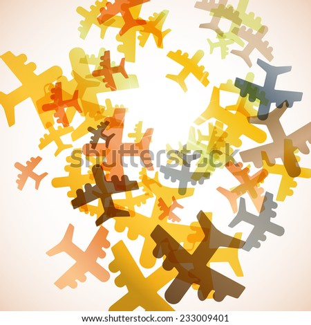 abstract background: plane - stock vector