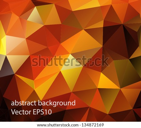 Abstract background polygonal - stock vector