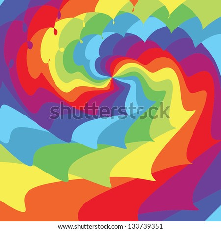 Abstract background. Psychedelic rainbow. Vector illustration EPS10 - stock vector