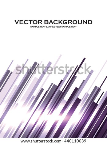 Abstract Background. Purple Shiny Stripes. - stock vector