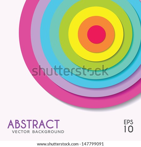 Abstract background rainbow target