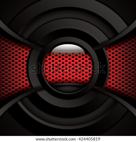 Abstract background, red brochure, vector