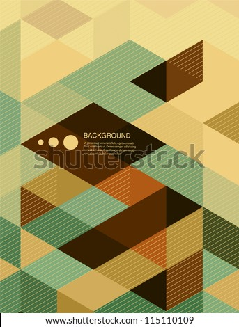 Abstract  Background / retro mosaic brochure or banner - stock vector