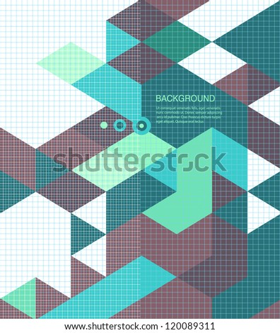 Abstract Background /retro mosaic brochure or banner - stock vector