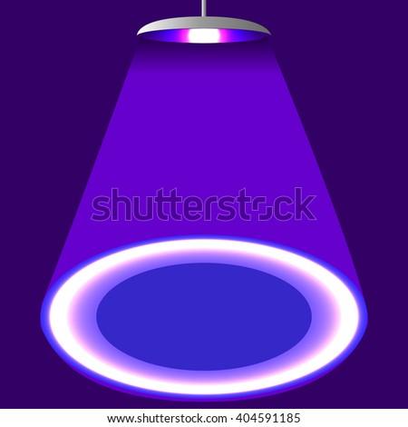 Abstract background, scene illumination, bright stage light rays, Vector illustration - stock vector