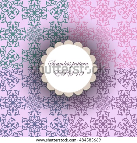 Abstract background. set of purpul seamless pattern