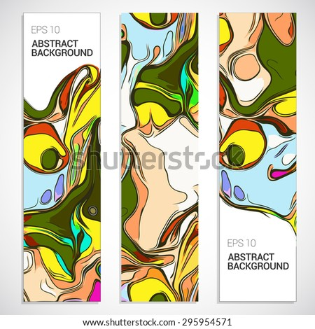 Abstract background set, paint style. - stock vector