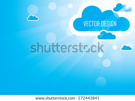 Abstract background sky design