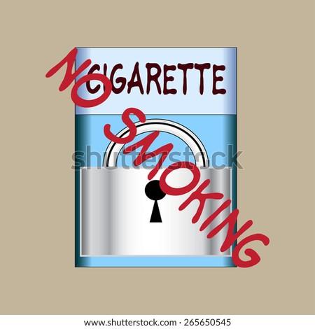 Abstract background. Smoking ban. Vector illustration - stock vector