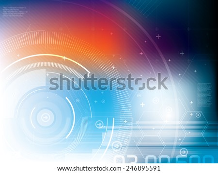 abstract background technology - stock vector