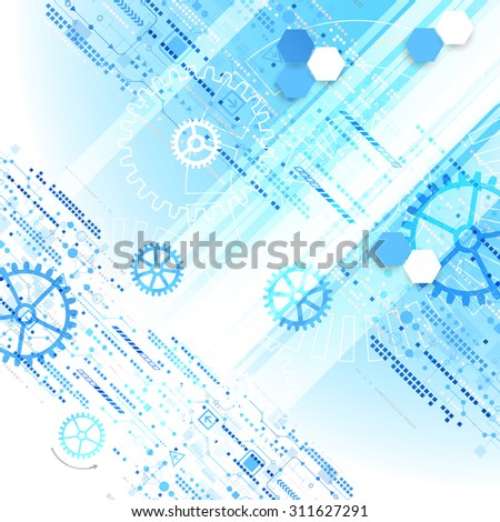 Abstract background  technology communication concept. Vector