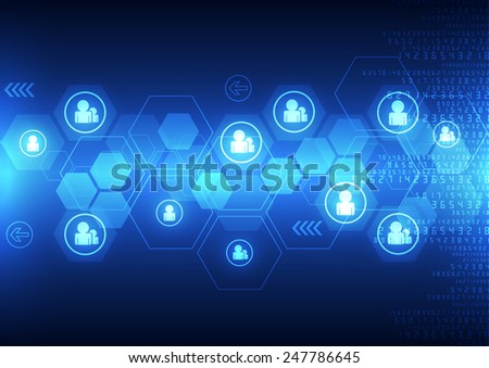 abstract background technology concept in vector illustration - stock vector