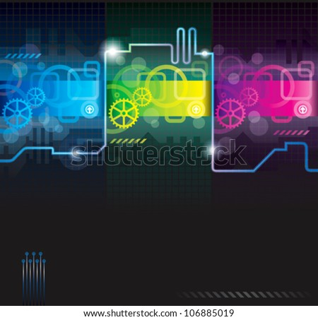 Abstract background. technology, industrial, futuristic background. - stock vector