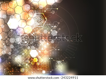Abstract background, technology theme illustration - stock vector