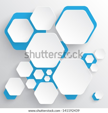 Abstract background template - stock vector