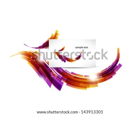 Abstract background template with preview sample. Vector illustration. - stock vector