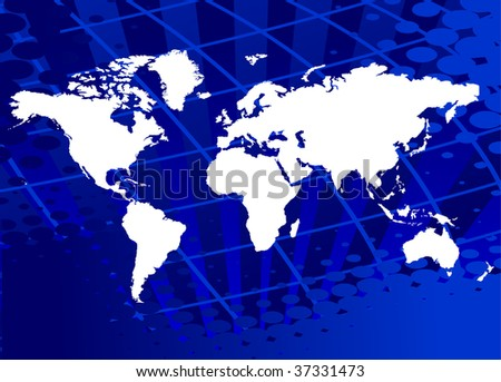 Abstract background template with world map