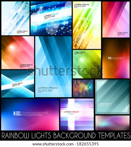 Abstract background templates for your colorful flyers or business cards.