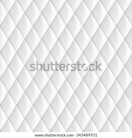 Abstract background texture of an old natural luxury, modern style leather with rhombus. Classic white of retro wall, door, sofa or studio interior   - stock vector