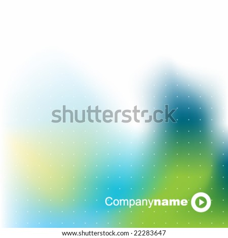 abstract background texture - trendy business template with copy space Contemporary texture in blue green color - stock vector