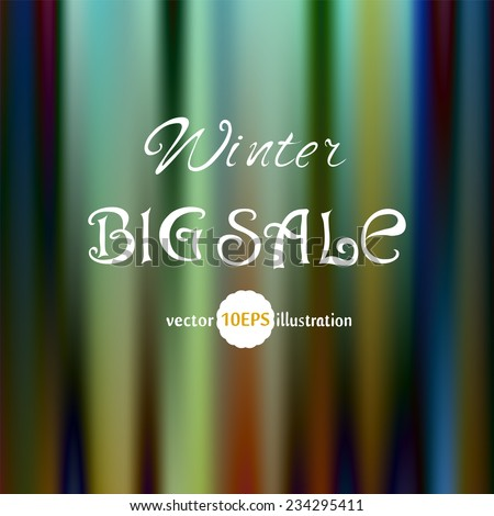 Abstract Background. The Color of the Northern Lights Vintage style background vector. Winter Sale. Abstract artistic Background for your design with space for text. Vector 10 EPS - stock vector
