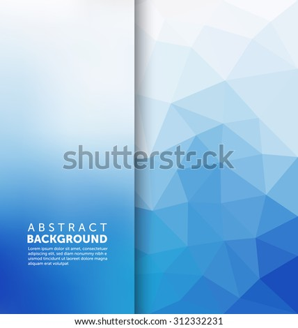 Abstract Background - Triangle and blurred banner design - stock vector