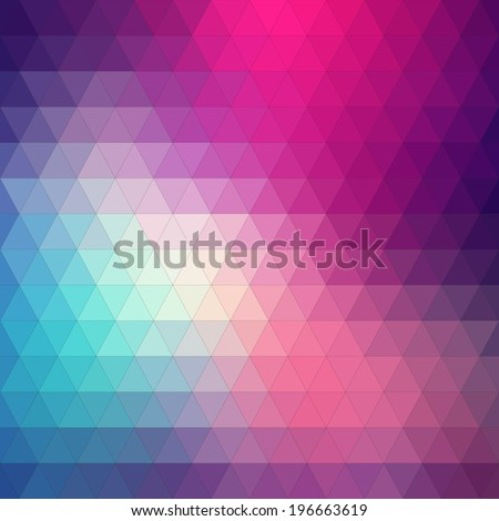 Abstract background, triangle design, vector illustration - stock vector