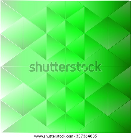 Abstract background triangle green - stock vector