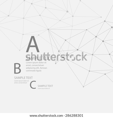Abstract background triangular grid. Vector illustration EPS 10 - stock vector