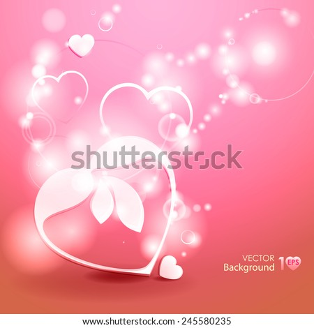 Abstract background. Valentines day. Vector Eps 10. - stock vector