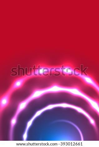 Abstract Background. Vector. Eps10. Neon Light. - stock vector