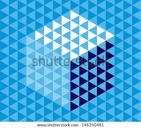 Abstract Background. Vector Geometric Triangle Pattern. - stock vector