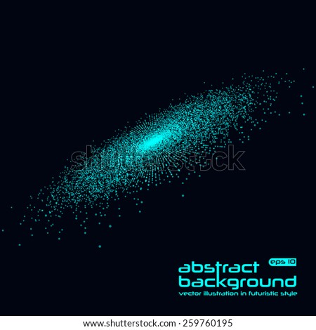 Abstract background. Vector illustration in futuristic style. Basis for booklet, invitation card, brochures, business presentations. - stock vector