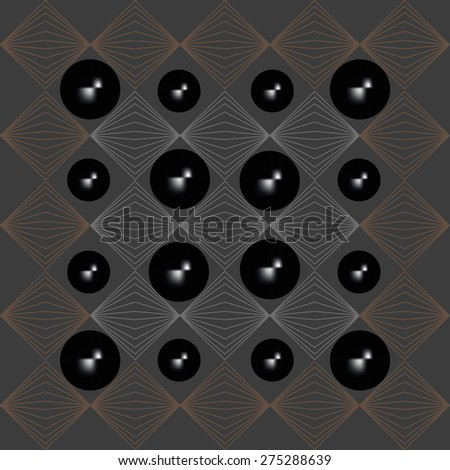 Abstract background vector illustration of a set of dark glowing beads - stock vector