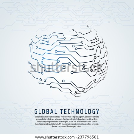 Abstract background. Vector illustration of digital technologies. - stock vector